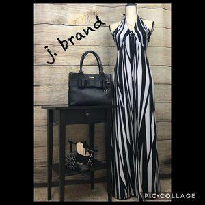 J, Dress Black/White Maxi Halter/Women's Size M
